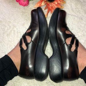 DANSKO oxblood leather strappy Mary Janes
